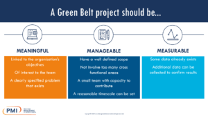 A Green Belt Project Should Be…